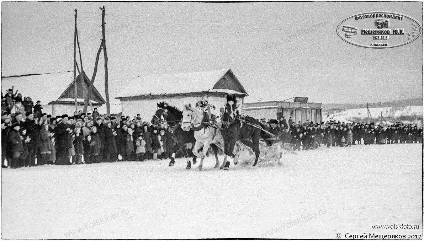 Тройка лошадей,Праздник Русской Зимы в с.Колояр Вольский район